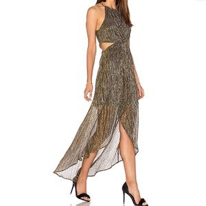 ASTR the label VEDA Maxi Dress in Metallic Multi